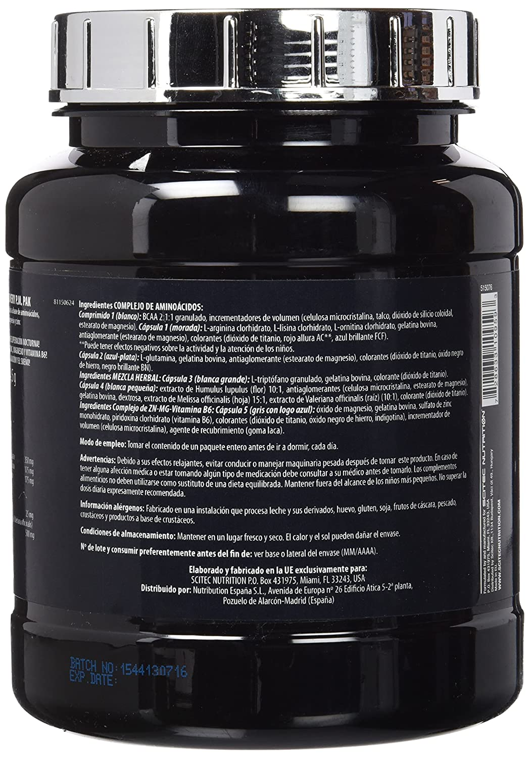 Amazon.com: SCITEC 106844 Pre Bed Nutrient And Support by Scitec: Health & Personal Care