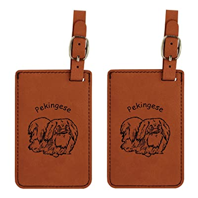 hot sale 2017 Pekingese Standing Luggage Tag 2 Pack L3699