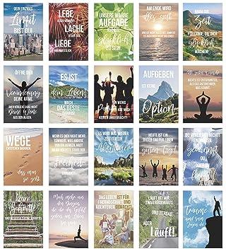 Edition Seidel Set 20 Postkarten Mit Spruchen Karten Mit Spruch Geschenkidee Dekoidee Liebe Freundschaft Leben Motivation Lustig