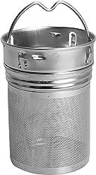 amapodo filtro per tè filtri setaccio in acciaio inox sciolto spezie bottiglia di teiera tea maker tazze permanente tappo a vite elemento filtrante uso del inserto metallo inossidabile più vivace