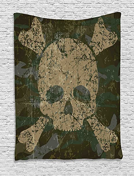 Camo Tapestry by Ambesonne, classico Germania mimetico foresta ...