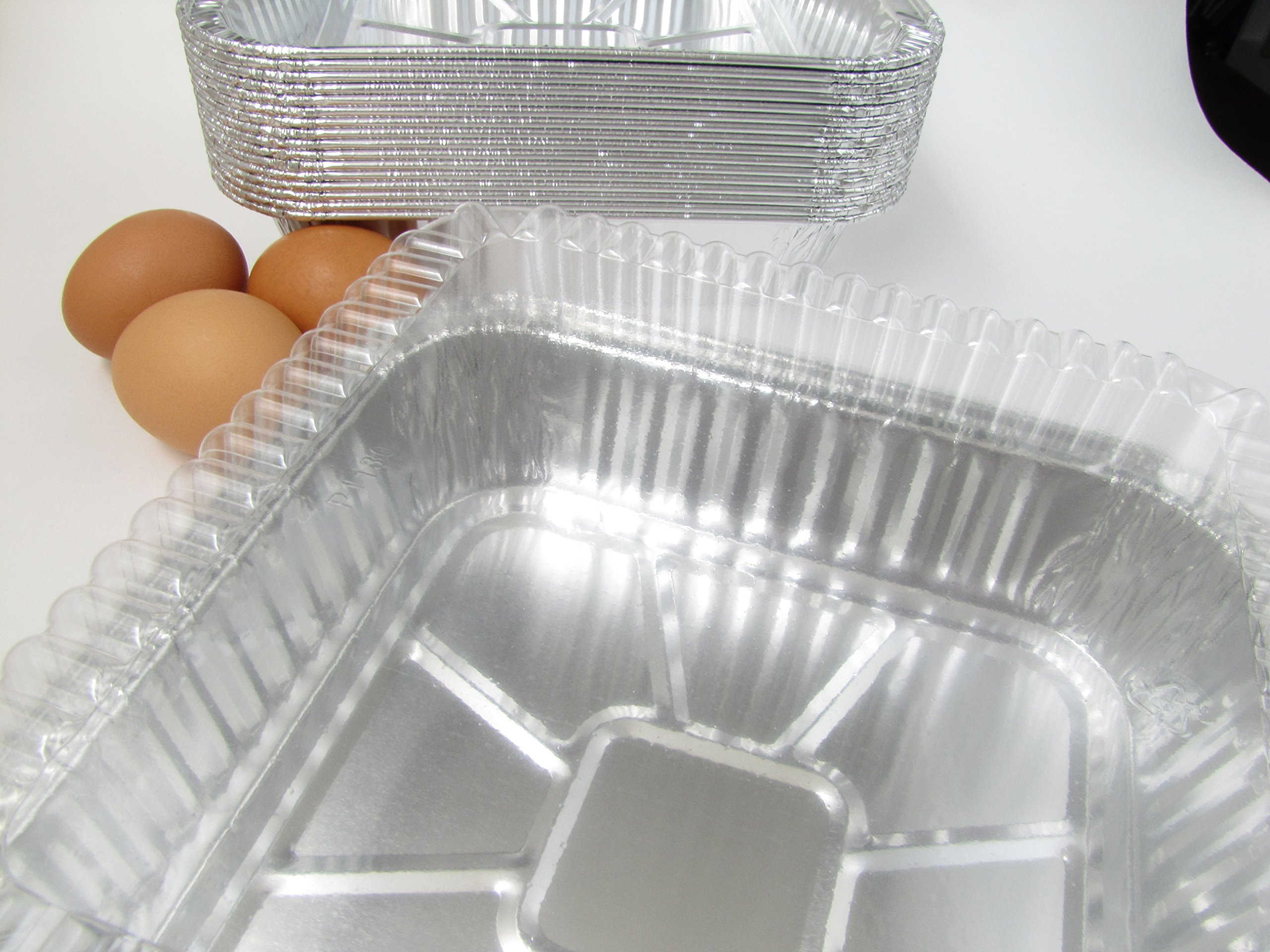 Disposable Aluminum 9 X 9 X 1 3/4 '' Square Cake Pan with Clear Plastic Lid #1100P (100)