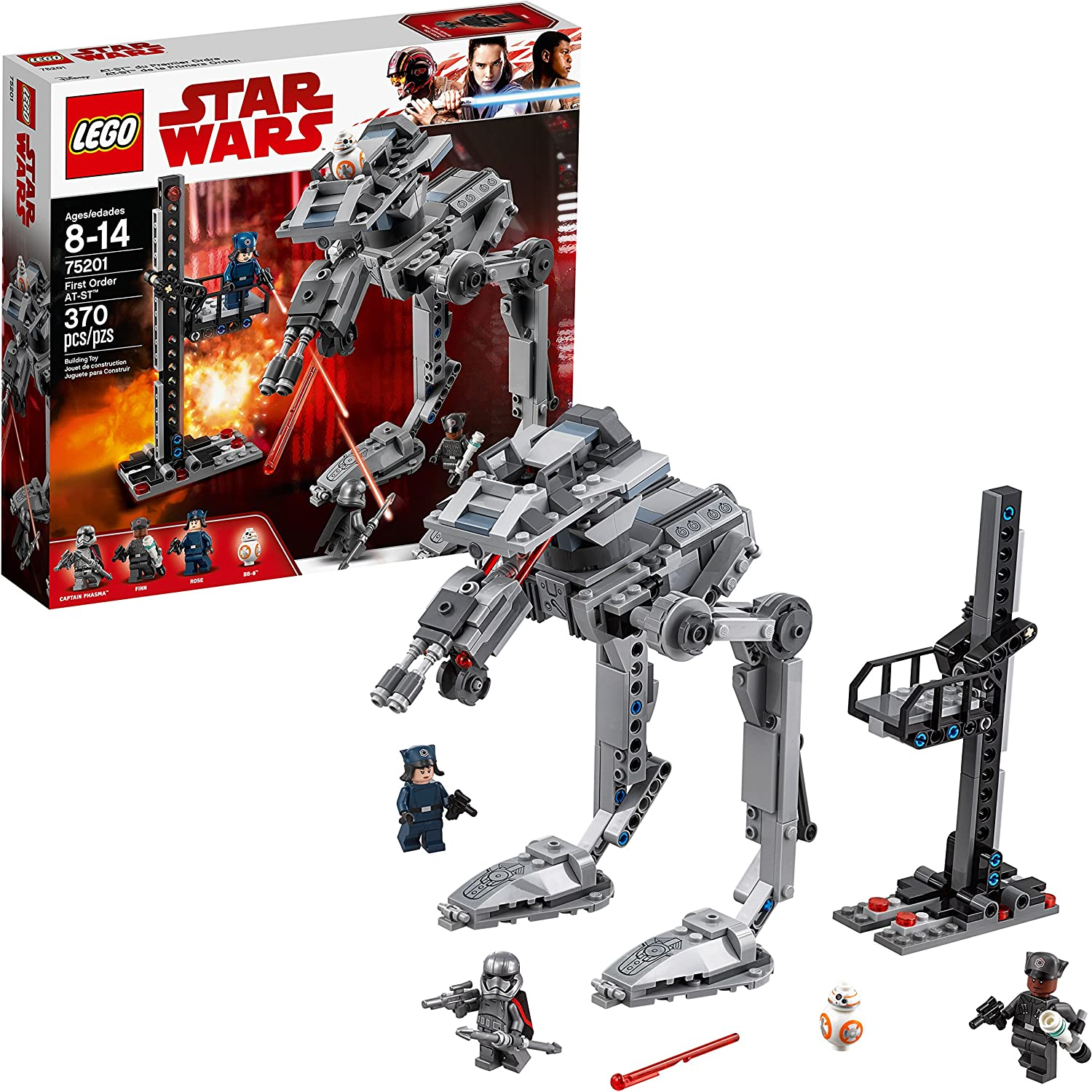 LEGO Star Wars: The Last Jedi First Order AT-ST 75201 Building Kit (370 Piece)