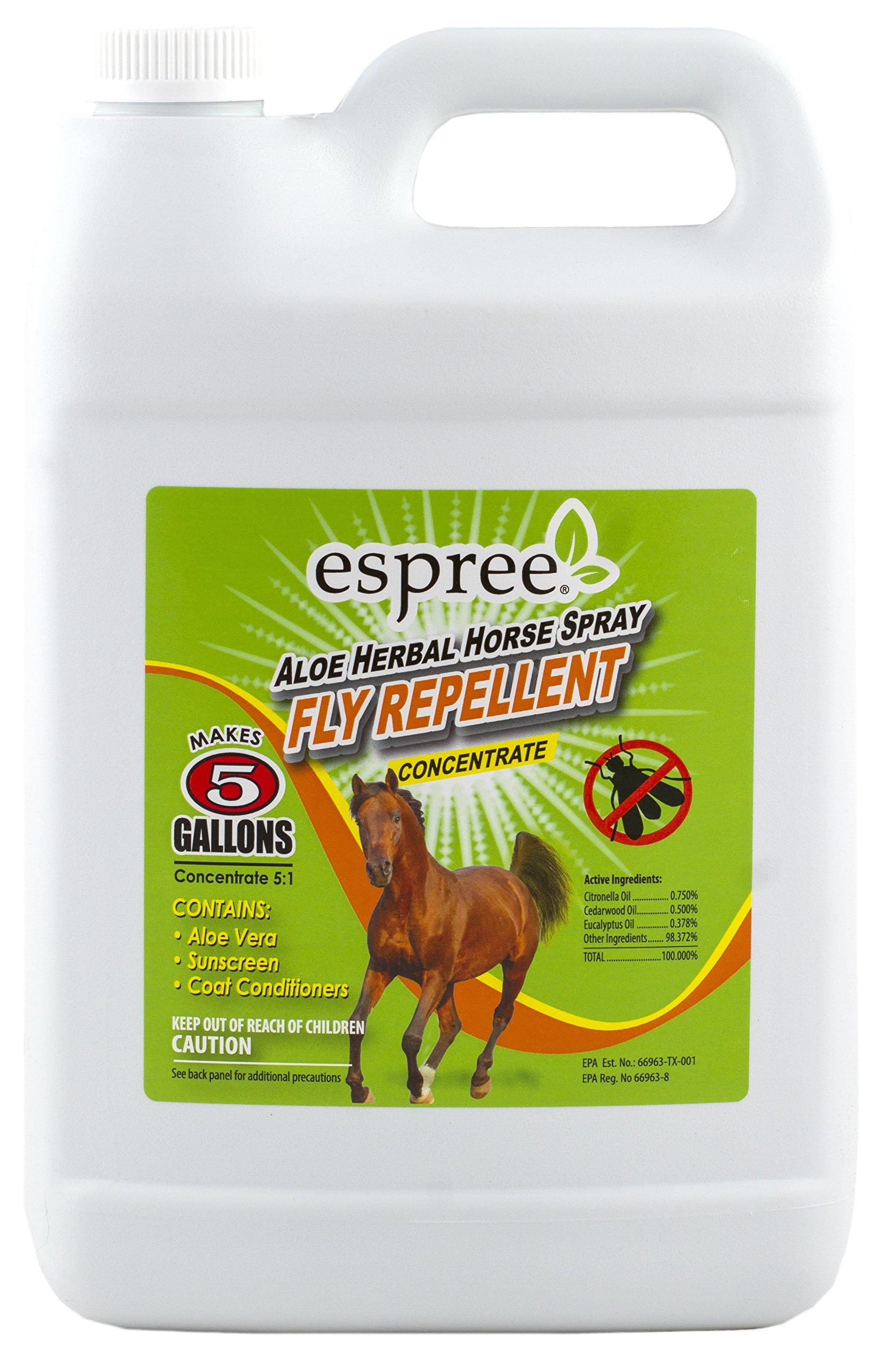 Espree Aloe Herbal Horse Fly Repellent Spray Promotes Healthy Coat 5:1 Concentration, 1 Gallon by Espree