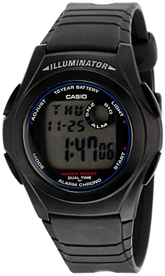 703854bae7c Buy Casio Youth Digital Grey Dial Men s Watch - F-200W-1AUDF (D027) Online  at Low Prices in India - Amazon.in