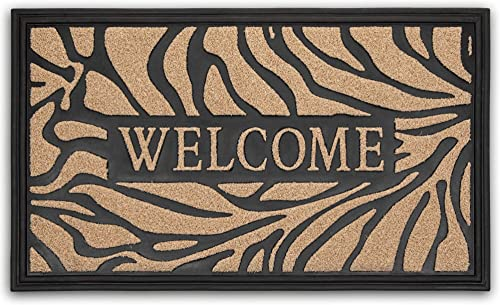 Sempiternity Premium Doormat Heavy Duty Doormat Indoor Outdoor Durable Rubber Door Mat 29×17 , High Traffic Areas, Low-Profile Mats, Entry, Patio, Waterproof, Easy Clean