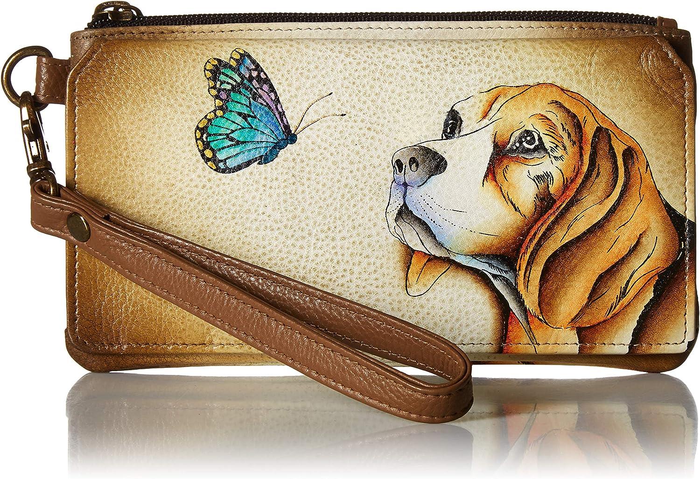 Anna by Anuschka Organizer Wallet   Genuine Leather   Puppy Love