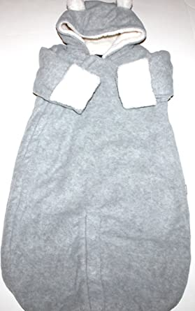 c8221a2cf2d8 baby Gap Infant Convertible Fleece Snowsuit with Hand Covers   Faux Fur  Lining (0-