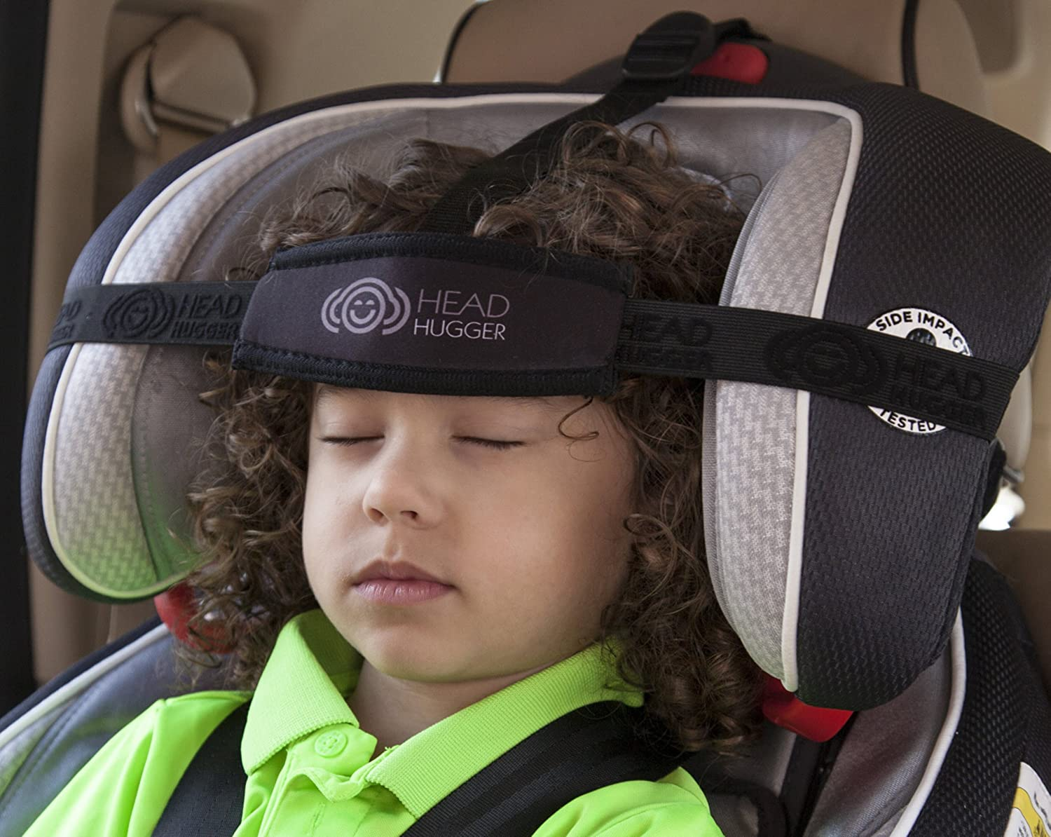 Head Hugger - Car Seat Head Support Device That Cradles the Head and Eliminates Pressure on the Neck (Black) Inc.