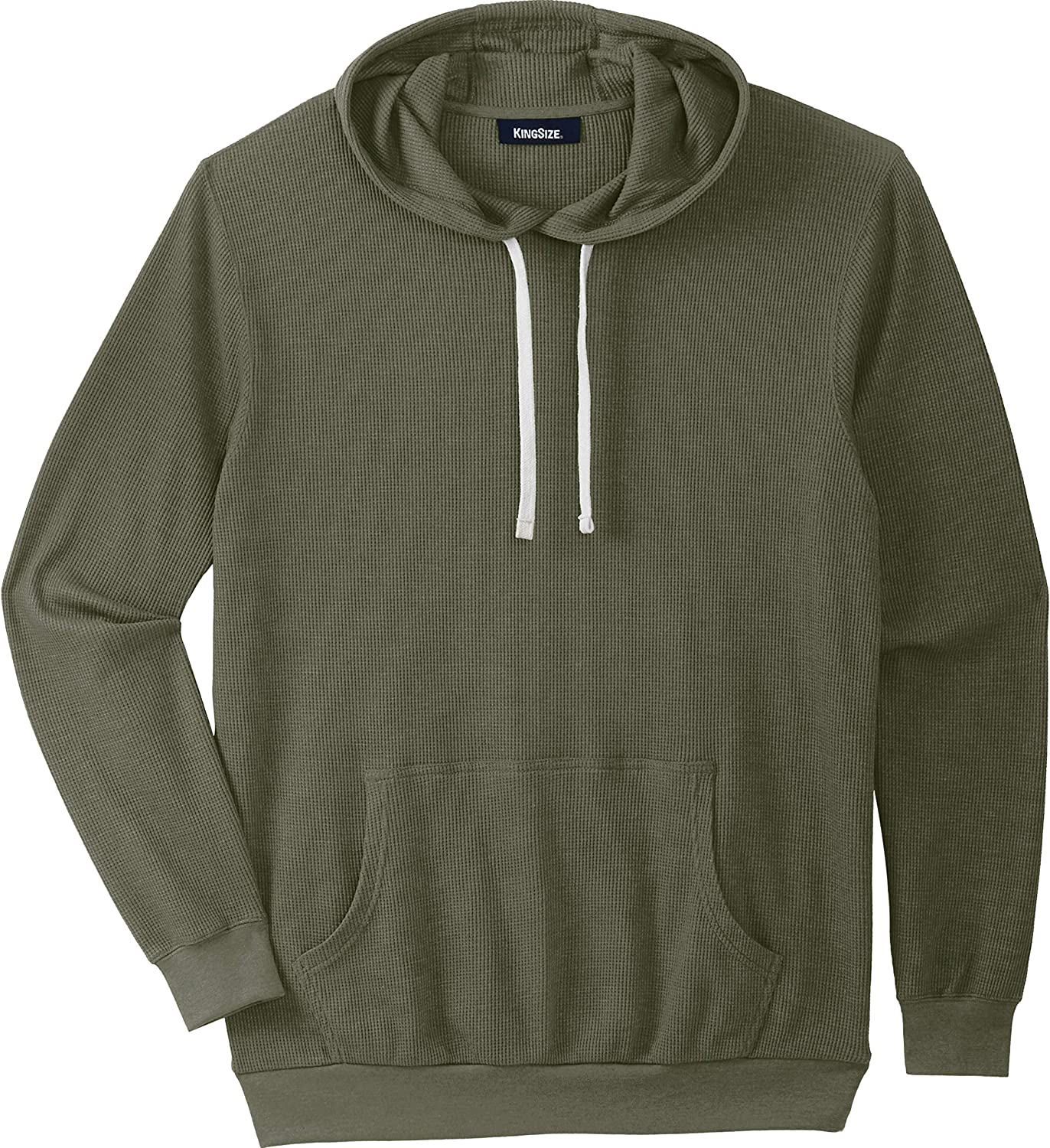 KingSize Men's Big & Tall Tall Waffle Knit Thermal Hoodie