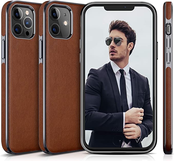 LOHASIC Phone Case for iPhone 12 Pro/iPhone 12 - Brown