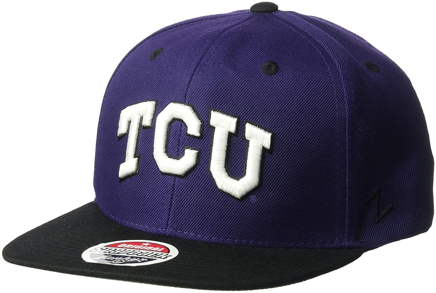 c19b30e4 ... purchase zhats ncaa tcu horned frogs mens z11 snapback hat adjustable  size team color 1179f 6b68a