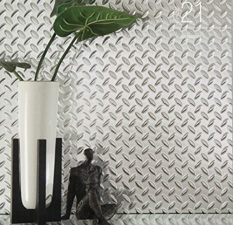 Chrome Diamond Plate Plastic Sheet 24u0026quot; ... & Amazon.com : Chrome Diamond Plate Plastic Sheet 24