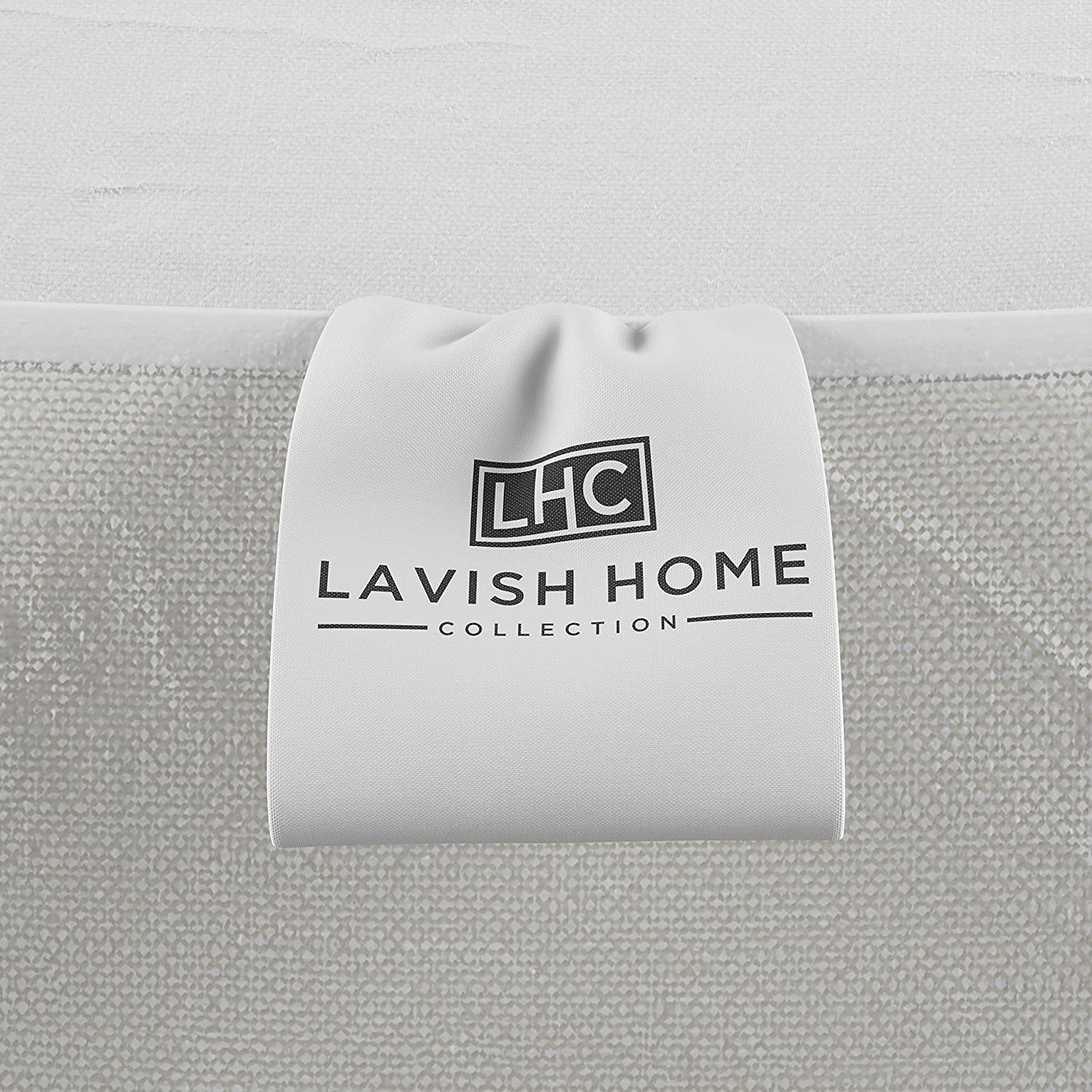 Lavish Home Padded Mattress Cover-100/% Cotton Twin Overstuffed Quilted Skirted Bed Protector Topper for Allergens and Mites-Fitted No Slip Corners