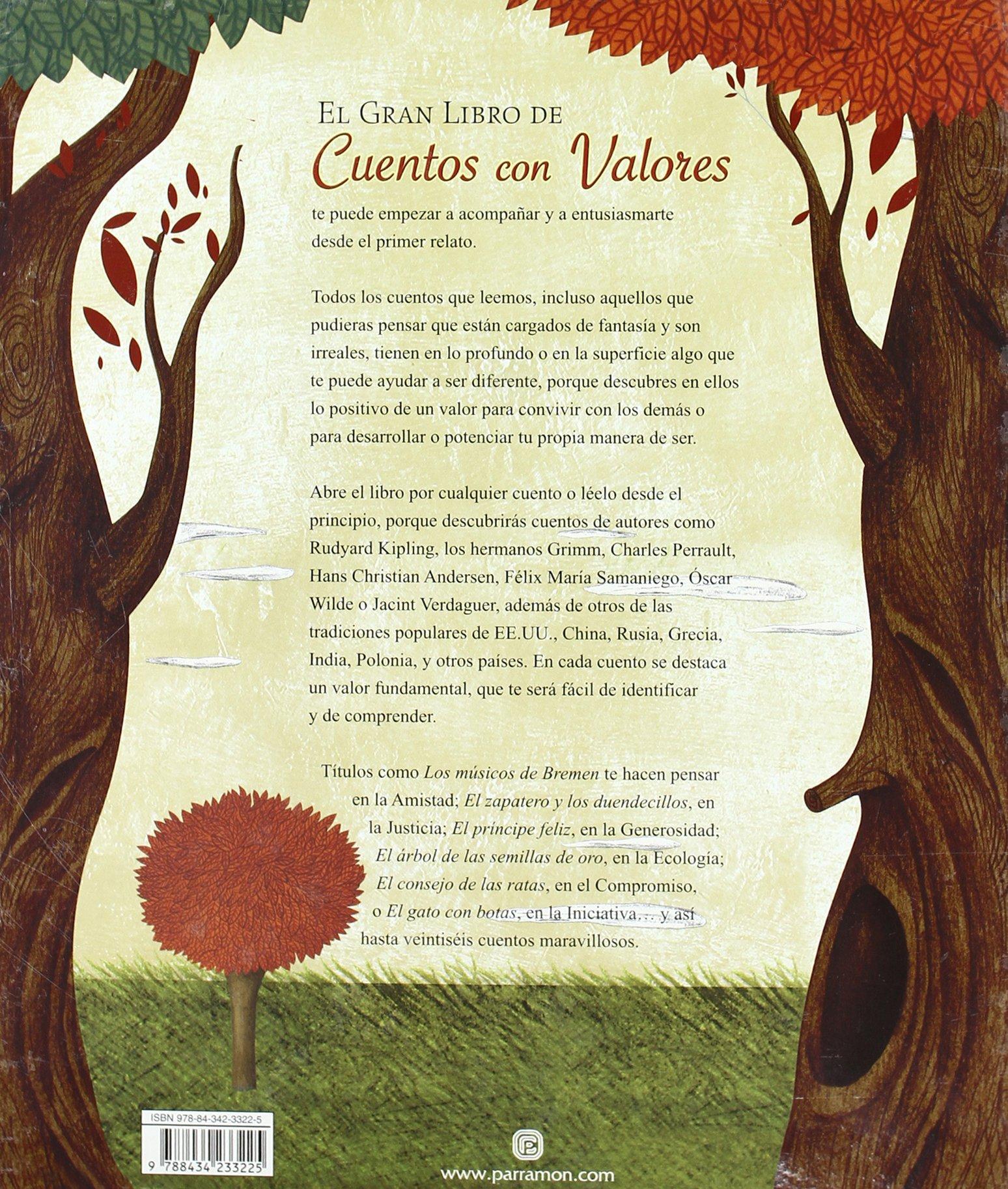 EL GRAN LIBRO DE LOS CUENTOS CON VALORES (Spanish Edition): Parramon: 9788434233225: Amazon.com: Books