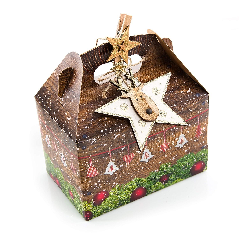 Weihnachtsgebäck Verpacken.3 St ü Ck Verpackung Weihnachtsgeschenke 18 5 X 12 5 X 12 Cm