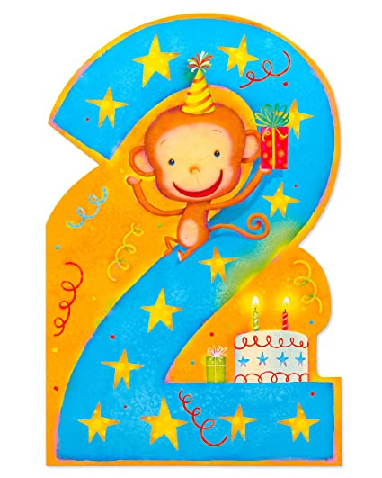 Image Unavailable Not Available For Color American Greetings Monkey 2nd Birthday Card Boy