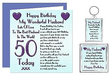 Husband 50th Happy Birthday Gift Set