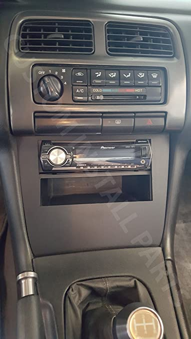 Amazon.com: Lower Single or Double Din Dash Kit Fitted for 95-98 Nissan 240SX S14 Multiple 52mm Gauge Options: Automotive