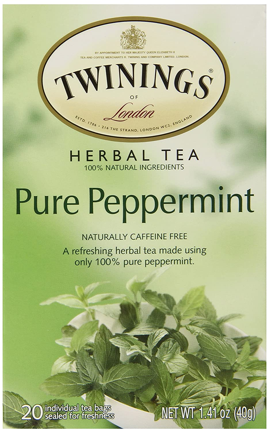 Cheapest amazon herbs - Amazon Com Twinings Pure Peppermint Herbal Tea 1 41 Ounce Box 20 Count Grocery Gourmet Food