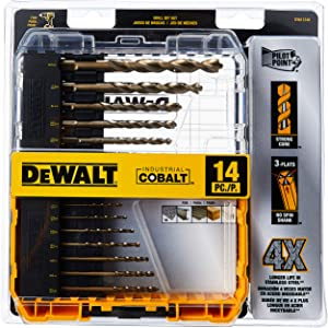 DEWALT DWA1240 Pilot Industrial Cobalt - Best Drill Bit Set For Metal