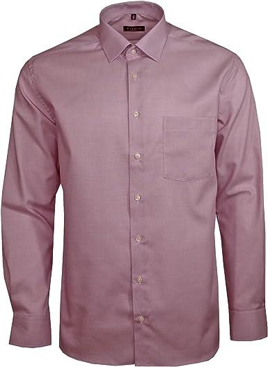 eterna - Camisa formal - para hombre Rojo rojo L/42: Amazon ...