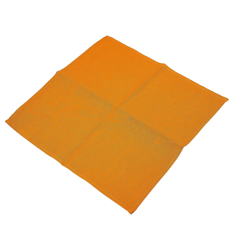 リネンナプキン 4枚セット オレンジ リネン/コットン混紡クロス テーブルナプキン バルク入り 13x13 inches オレンジ 13x13 inches  B07GFNRRKT