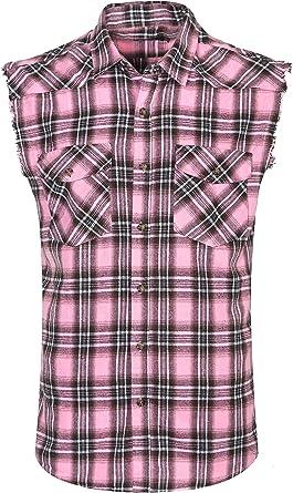 NUTEXROL Camisas de Hombre Camisa a Cuadros Camisas de Vestir Sin Manga, Casual, Cómodo y Moderno Para Verano, de Varios Colores y con 7 Tallas Por ...
