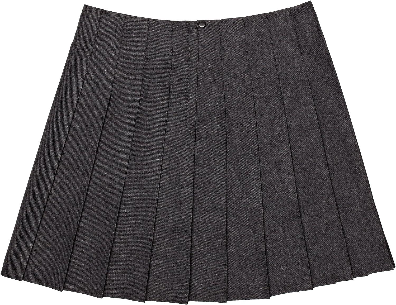 Harrow Grey Trutex Girls Stitch Down Pleat Skirt 13 Years Manufacturer Size: W26//L20