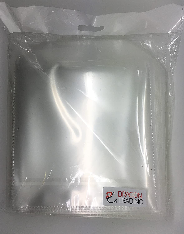 Dragon Trading® 100 fundas de plástico de 150 micras para estuches de CD y DVD, color transparente