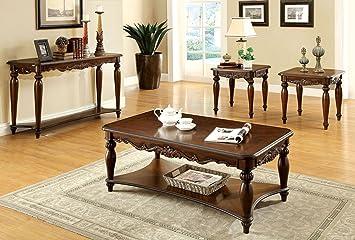 Living Room Table Set. 247SHOPATHOME IDF 4915 3PK Living Room Table Sets  Cherry Amazon com