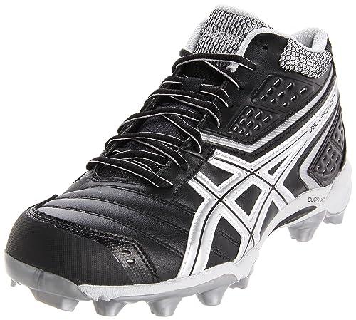 0a8237c3788c ASICS Men s Gel-Provost Mid Lacrosse Cleat Black Silver White 11.5 M ...