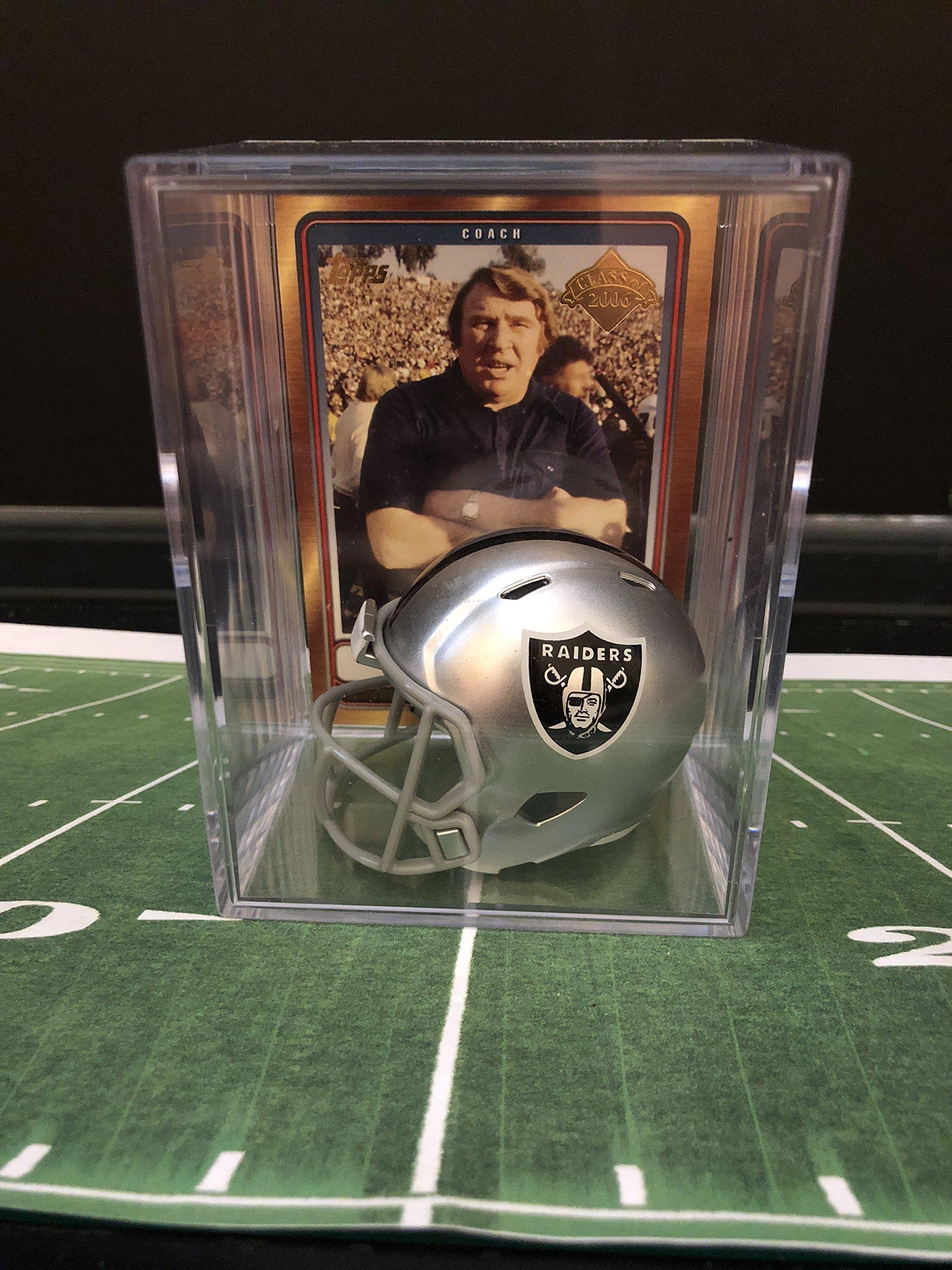 Oakland Raiders NFL Helmet Shadowbox w/John Madden card