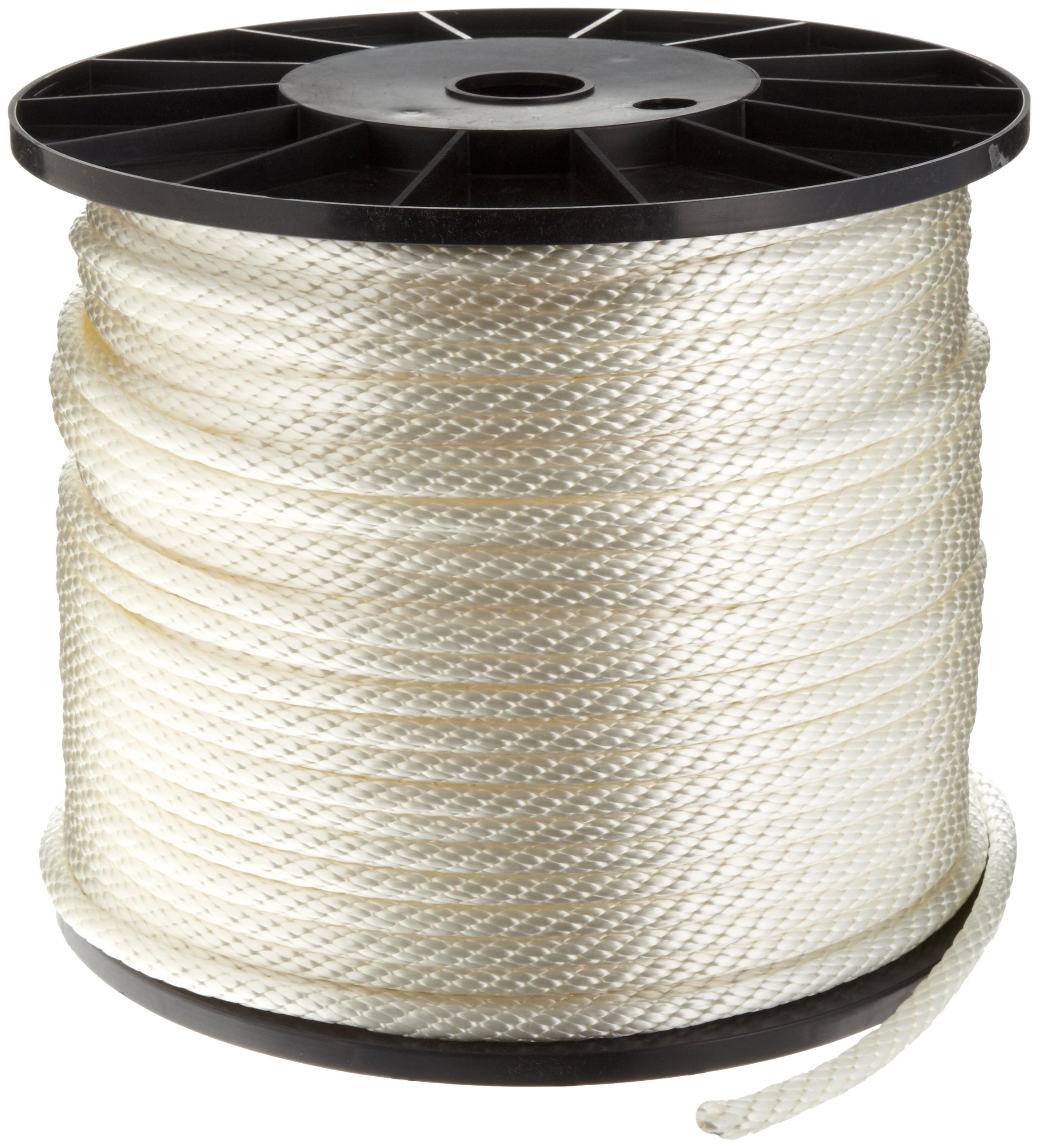 Samson Rope 019024005030 Solid Braid Nylon Cord in Spool, 3/8'' Diameter, 500' Length, 2500 lbs Strength, 375 lbs Working Load Limit