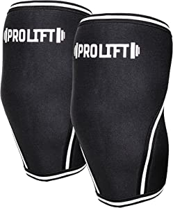 Pro-LifT Knee Sleeves (1 Pair) - 7mm Neoprene – Compression & Support for Weightlifting, Powerlifting, Crossfit – Workout Aid for Men & Women