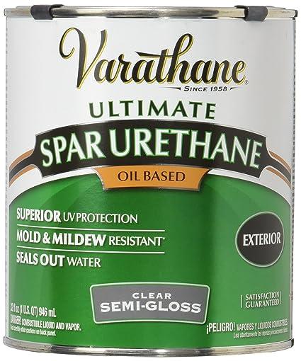 Rust Oleum Varathane 9441H 1 Quart Classic Clear Oil Based Outdoor Spar  Urethane,