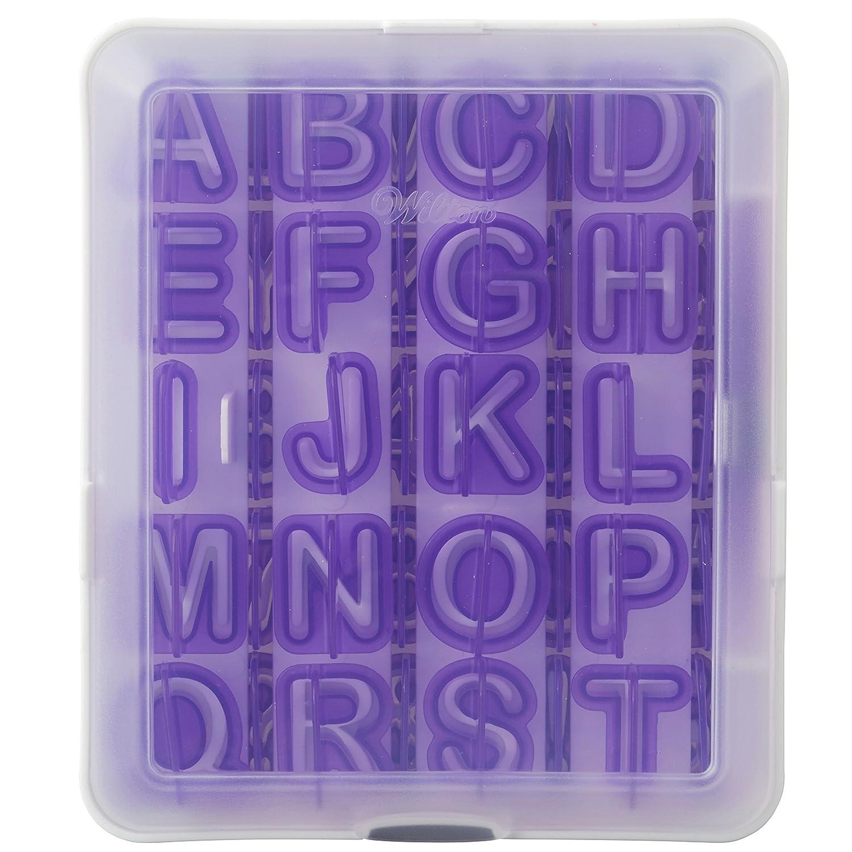 Wilton Moldes para Decorar repostería, diseño de abecedario y ...