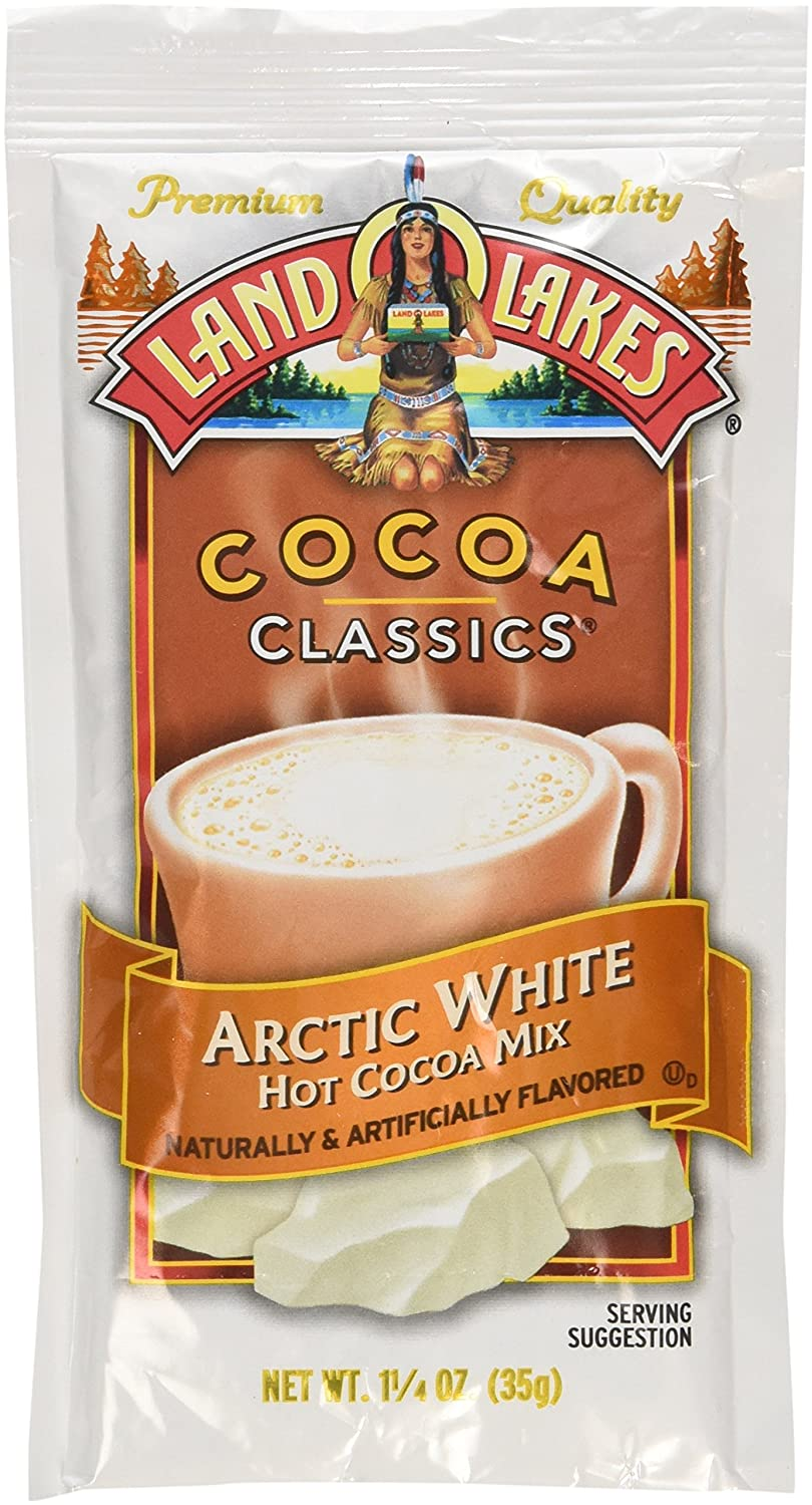 Land O Lakes Cocoa Classic Arctic White Hot Cocoa Mix, 1.25 Ounce - 12 per case.