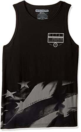5b762c1b530459 Metal Mulisha Men s Tank Top Cami Shirt Black  Amazon.co.uk  Clothing