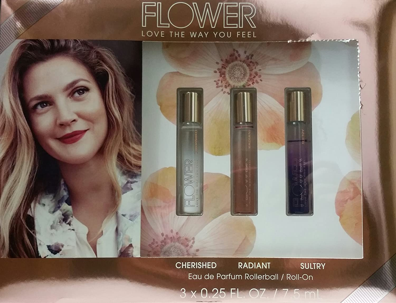 Amazon Drew Barrymore Flower Roll On Fragrance Set Cherished