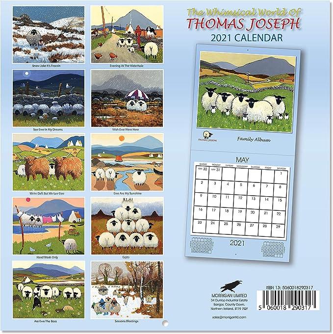 K/ühen und Bauernhofhunden mit skurrilen Schafen Thomas Joseph Tischkalender 2021