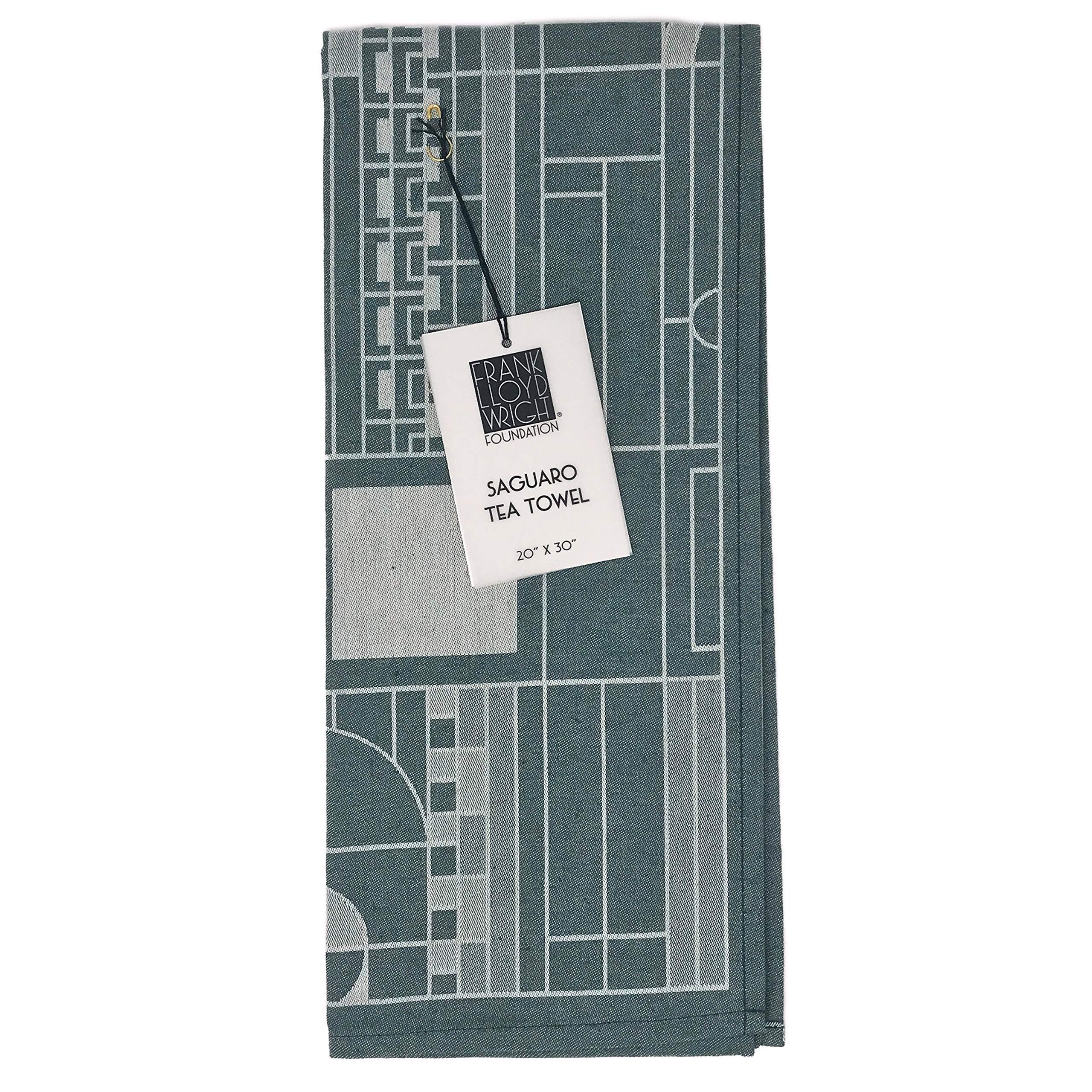 KAF Home Frank Lloyd Wright Woven Jacquard Tea Towel 20 x 30-inch 100-Percent Cotton (Saguaro)