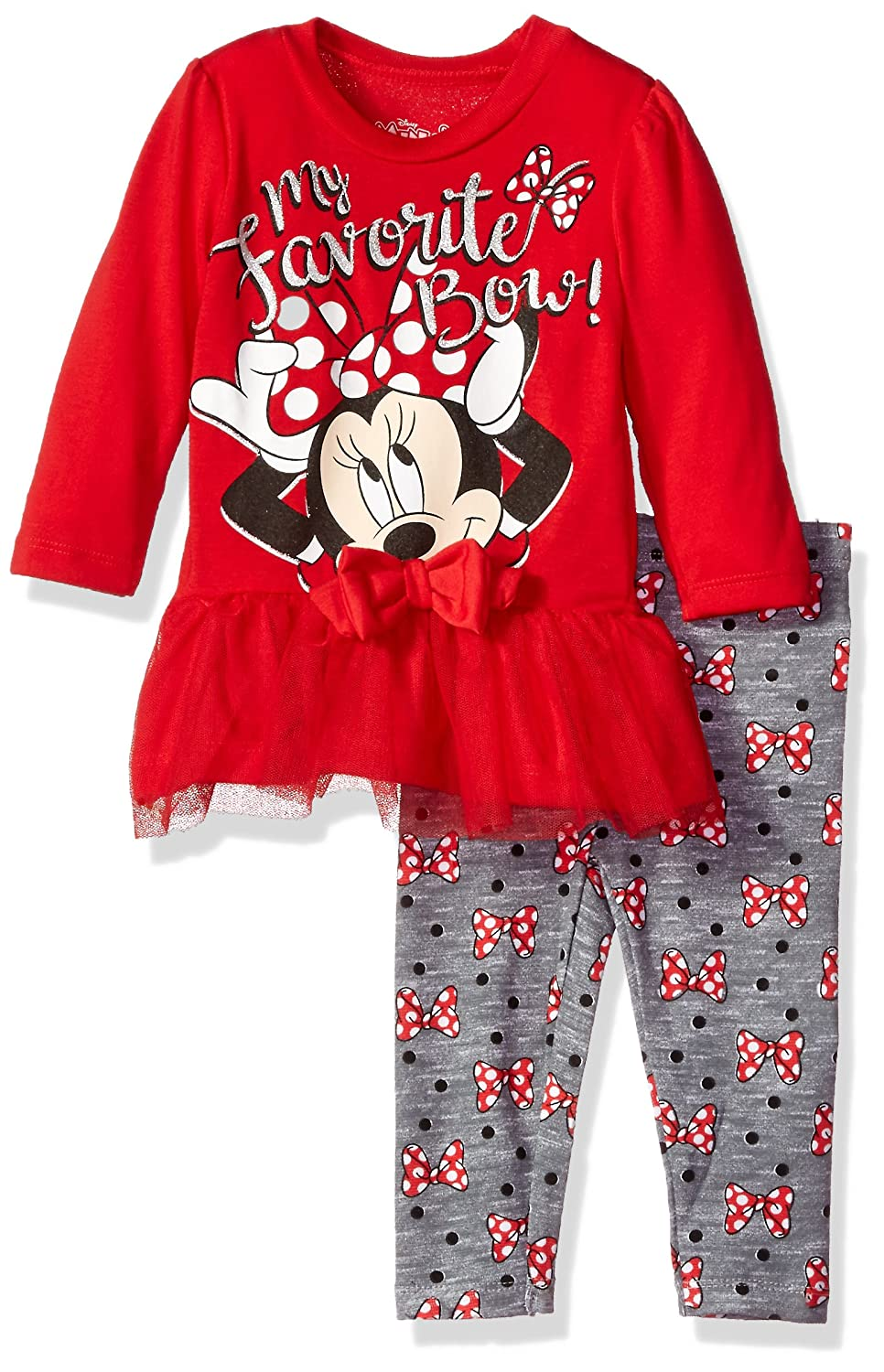 Disney Girls Minnie Mouse 2-Piece Tulle Top and Legging Set