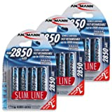 Amazon Price History for:ANSMANN AA Rechargeable Batteries 2850mAh Slimline high-capacity rechargeable NiMH AA Battery for cameras etc. (12-Pack) (5035212-US-590)