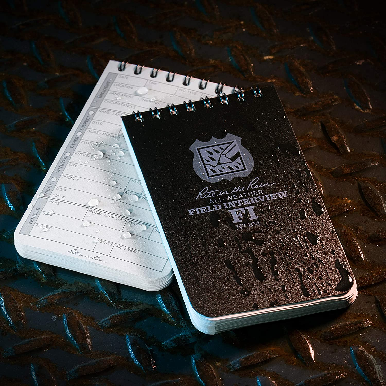 Rite In The Rain Weatherproof Field Interview Notebook Field Interview Form Pages No. 104 3 x 5 Black Cover