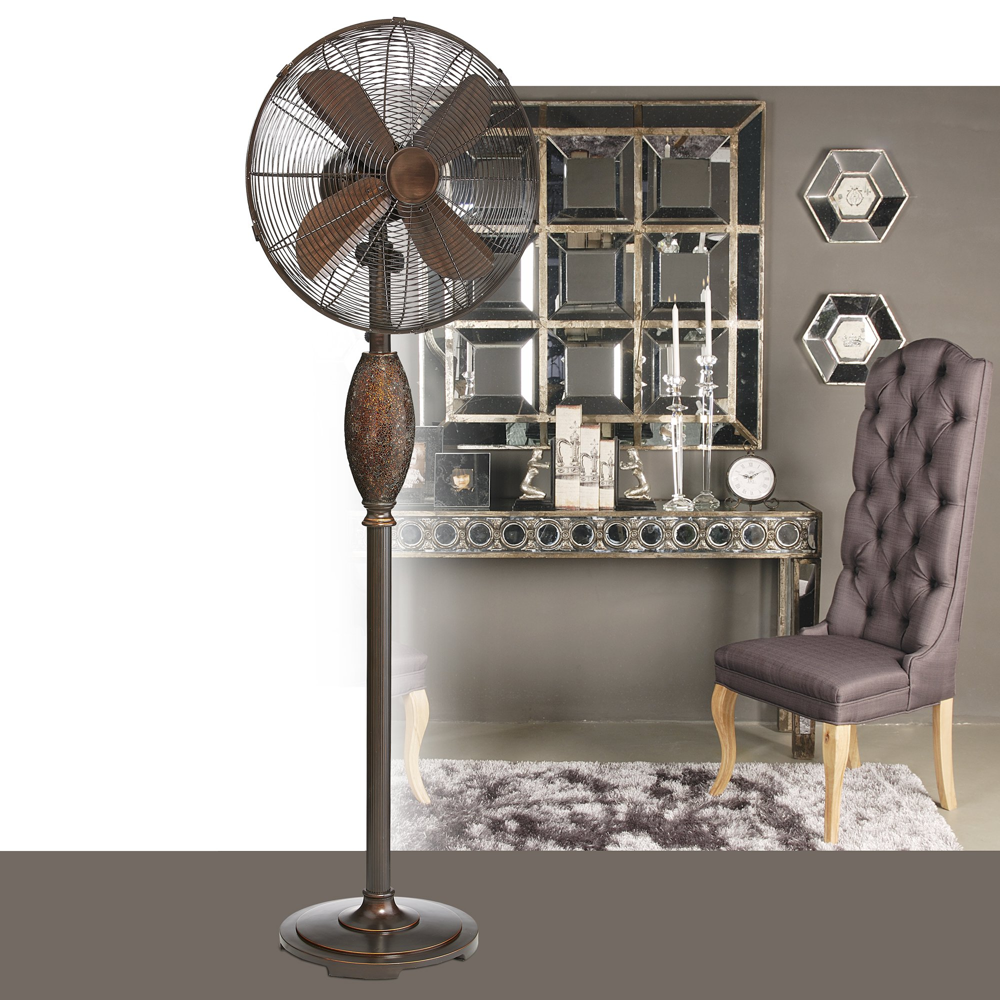 Floor Standing Fan, Oscillating Floor Fan, 3-Speed Harmony