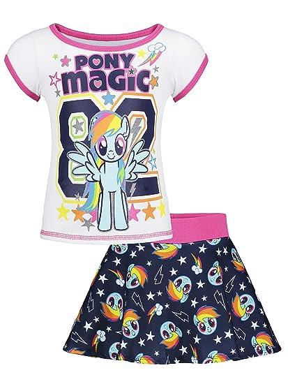 My Little Pony Rainbow Dash Toddler Girls T-Shirt & Skater Scooter Skirt Set
