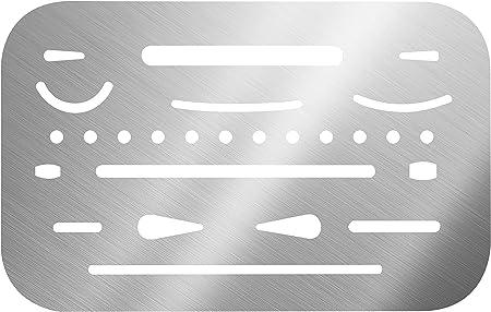 Amazon.com: Alvin Acero Inoxidable Borrar Shield (3298 ...