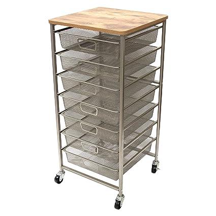 Charmant Tim Holtz Idea Ology Signature Design Industrial Storage Cart, 33.5u0026quot; X  15.75u0026quot;