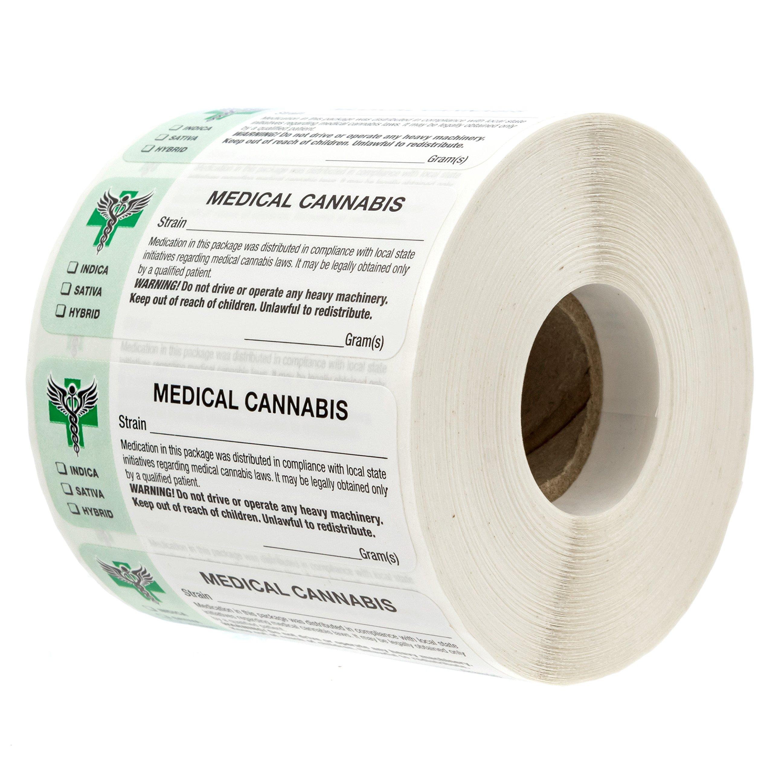 1 Inch 500 Labels Total Oregon Universal Marijuana Symbol Warning Stickers
